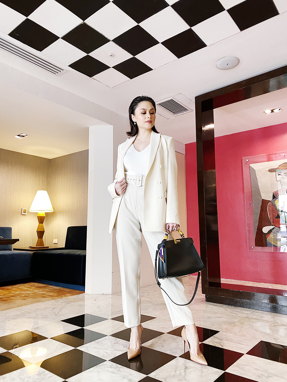 Chic in a Monotone Suit look